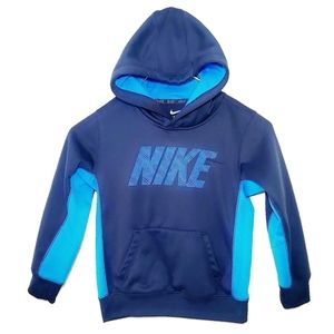 #1319 Nike Blue Boys Hoodie Sweatshirt 6 Small